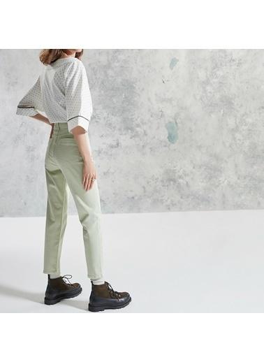Yargıcı Simli Detaylı Pantolon Yeşil